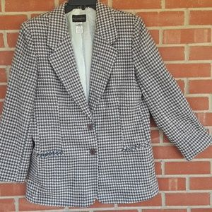Vtg Requirements houndstooth Blazer size 12